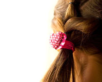 Heart shaped braid in hair Royalty Free Stock Photo