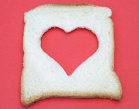 Heart shaped on bread Royalty Free Stock Image