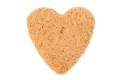 Heart shaped bread Royalty Free Stock Image