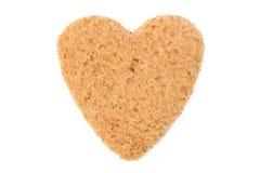 Heart shaped bread Royalty Free Stock Image