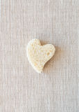Heart shaped bread Stock Photo