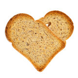 Heart-shaped bread rusks Stock Photo