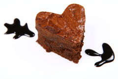 Heart shaped brownie Royalty Free Stock Photography