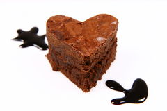 Heart shaped brownie Stock Photography