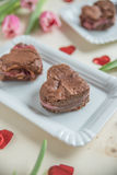 Heart Shaped Brownie Royalty Free Stock Images