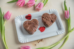 Heart Shaped Brownie Royalty Free Stock Photo