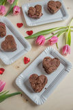 Heart Shaped Brownie Stock Image