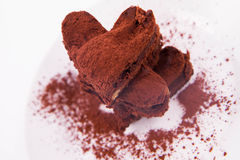 Heart shaped a brownie Royalty Free Stock Image