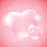 Heart shaped bubbles Stock Image