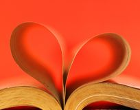 Heart-shaped Buch Stockbild