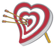 Heart Shaped Bullseye Stock Photos