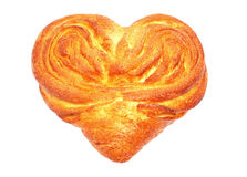 Heart shaped bun with sugar Stock Image