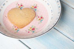 Heart-shaped butter cookies. Stock Images