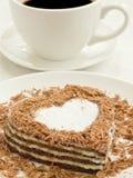 Heart-shaped cake Royalty Free Stock Photos
