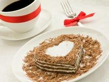 Heart-shaped cake Stock Image