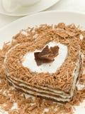 Heart-shaped cake Royalty Free Stock Photography