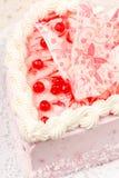 Heart-shaped cake 免版税库存照片