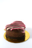 Heart Shaped Cake. A heart shaped individual chocolate cake Stock Photo