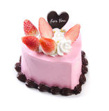 Heart Shaped Cake. On white background Stock Image