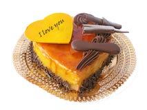Heart-shaped cake Royalty Free Stock Image