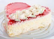 Heart-shaped cake Stock Photos