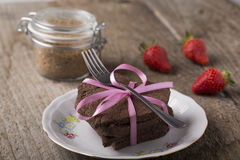 Heart-shaped cake with decoration Royalty Free Stock Photo