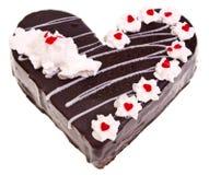 Heart shaped cake on white background. Heart shaped cake, isolated on white Stock Photo