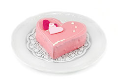 Heart shaped cake Stock Images