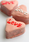 Heart shaped cakes Stock Images