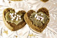 Heart shaped cakes Royalty Free Stock Photos