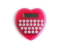 Heart shaped calculator Royalty Free Stock Images
