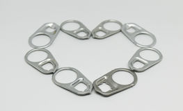 Heart shaped of  can lid  loop. Stock Photography
