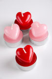 Heart shaped candels Royalty Free Stock Photography