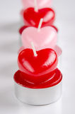 Heart shaped candels Stock Image