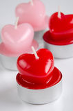 Heart shaped candels Stock Images
