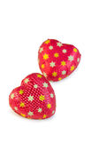 Heart-shaped candies Royalty Free Stock Images