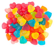 Heart-shaped candies Stock Image
