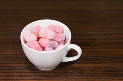 Heart shaped candies Stock Images
