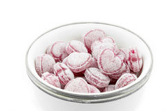 Heart shaped candies in a bowl Stock Photography