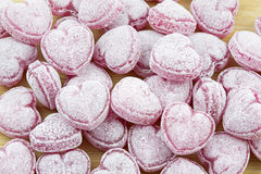 Heart shaped candies. Can be used as background Royalty Free Stock Photos