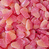 Heart shaped candies closeup Stock Photography