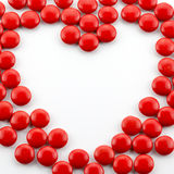 Heart shaped candies Stock Photos