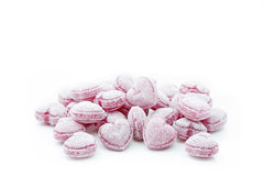 Heart shaped candies isolated on white. Background Stock Image