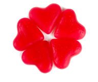 Heart-shaped candies isolated on white Royalty Free Stock Photo