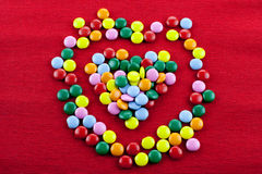 Heart shaped candies Stock Image