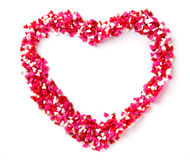 Heart shaped candies Royalty Free Stock Image