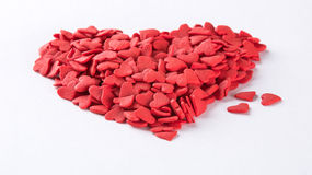 Heart shaped candies Royalty Free Stock Photo