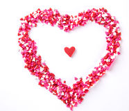Heart shaped candies Royalty Free Stock Photography