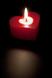 Heart shaped candle Royalty Free Stock Photography