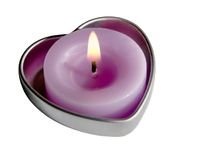 heart shaped candle Stock Images